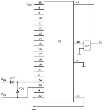Схема подключения ЦАП.