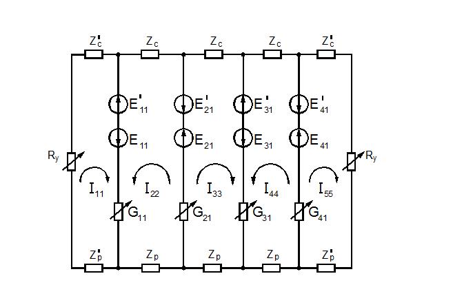 Рисунок 2.3 - Схема замещения